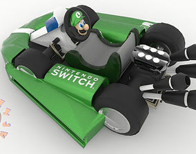 3D print model Luigi Kart Nintendo Switch Joy Con 1