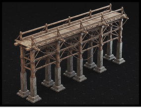 game-ready Medieval Bridge 3D Model - PBR Textures