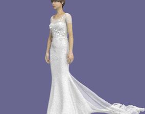 3D Wedding Bridal Dress