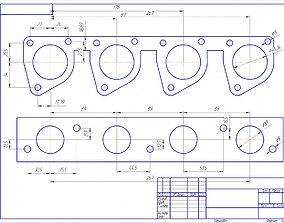 Intake manifold VAZ-2108 3D