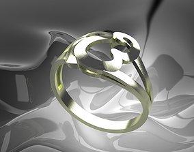 Plain Light Women Ring 3D printable model cad