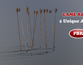 Game Ready Low Poly Arrow Pack 3D model game-ready