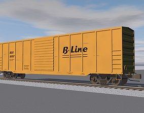 3D model Train Car - Boxcar - Railroad Freight Car