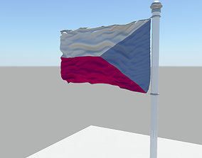 Czech Republic flag 3D