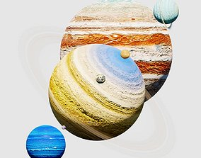 Solar system 3D model planet