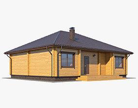 Log House 02 3D model