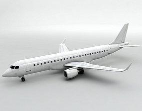Embraer ERJ 190 - Generic White 3D asset