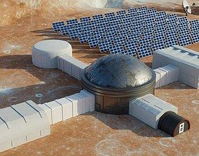 Martian base 3D model game-ready