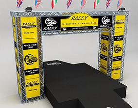 3D model WRC motor sport podium