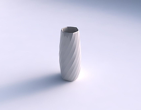Vase hexagon with twisted bands 3D print model