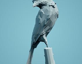 figurines print Low Poly Bird Model
