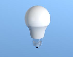 LED LIGHTBULB REAL SIZE 3D model