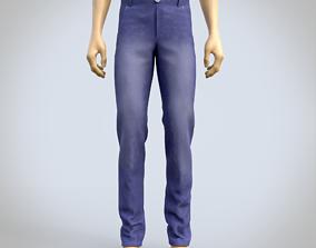 male jeans denim pants 3D model