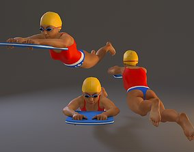 3D model SwwimmingPool Female BCC 2130 011