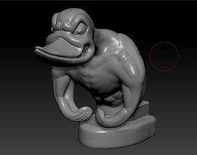 3D printable model upgraded rubber duck