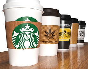 plastic 3D Takeout coffee cups