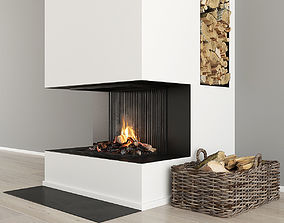 Fireplace and Firewood 32 3D