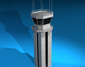 Airport control tower 3D