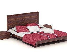Oak Bedroom Set 3D model