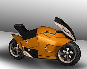 3D Futuristic Bike game-ready