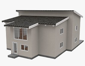 House with interior 01 3D model
