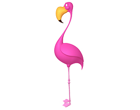 Flamingo cartoon 3D
