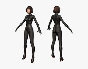 3D model Biker Girl