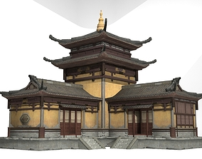 Ancient Architecture Dao Guan Jing House 3D model