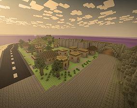 3D model Minecraft world