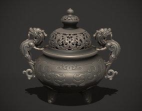 Antique Chinese Incense Burner 3D printable model
