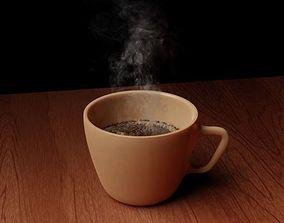 3D model coffe cup decoration