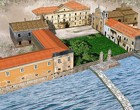 Castle and church 3D model