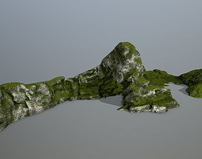 rocks snow 3D model realtime
