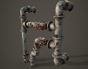 3D asset Old pipes