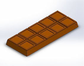 Chocolate Bar Keychain Charm 3D print model