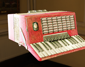 3D model Weltmeister Stella 80 Bass Accordion Low Poly