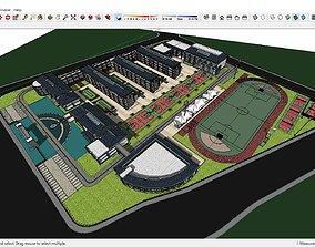 Sketchup school K3 3D model