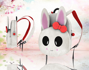 VR / AR ready Bunny bag backpack - Low poly 3D model