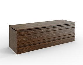 MATHOPEN Bench medium brown 3D model
