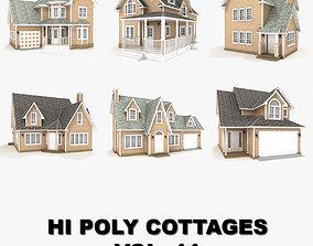 3D Hi-poly cottages collection vol 11