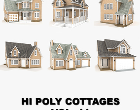 3D Hi-poly cottages collection vol 11