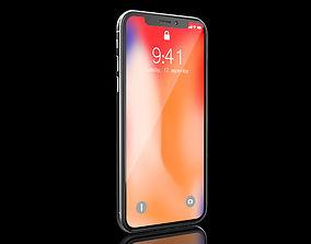 iPhone X silver 3D model