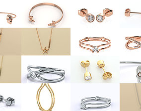 3D Modern Jewelry Ice Collection