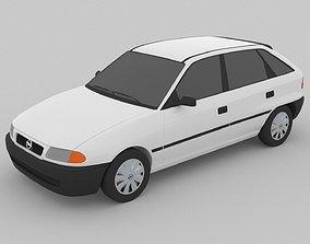 3D asset Opel Astra F 1991