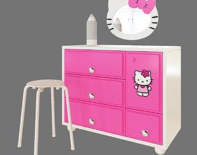 HELLO Kitty dressing table 3D model