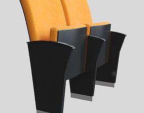3D model Orange Theater Seat