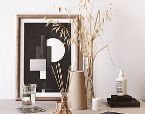 3D model Decorative set with oats architectural