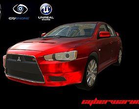 3D model Mitusbishi Lancer Sport Car