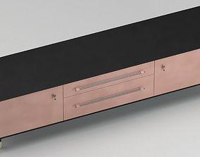 3D model Modern wood credenza