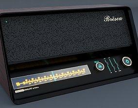 3D model Vintage Modern Speaker Radio